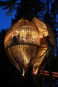 Treehouse - very cool. Would love to spend a night in this ...