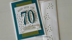 Geburtstagskarte Mann zum 70.