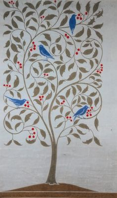 Birds in a Holly Tree http://www.wmgallery.org.uk/collection/browse-the-collection/object-type/textiles