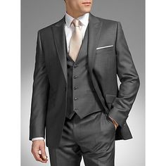 champagne and gray suit | ... John Lewis Tailored Fit Wool Dress Suit, Grey Online at johnlewis.com