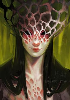 A Curious Forest Entity, by Agaric_Fly Creature Concept Art, Creature Design, Character Concept, Character Art, Mushroom Art, Arte Horror, Unusual Art, Comic Book Artists, Character Design Inspiration