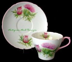 Antiques And Teacups: Tuesday Cuppa Tea, Burns Night, Shelley Thistle, Downton Jewels and More!