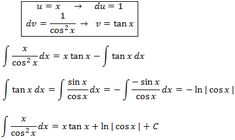 solving the integral of x/(cos(x)^2)  by parts