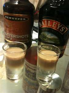 Buttery Nipple Shot recipe  1/2 shot butterscotch schnapps  1/2 shot Bailey's® Irish cream    The Butterscotch Schnapps makes up the bottom layer. The top layer of Baileys should be added using a spoon. This is a layered shot. Delicious!      Read more: Buttery Nipple shot drink recipes http://www.drinksmixer.com/cat/418/#ixzz1kq034PTV