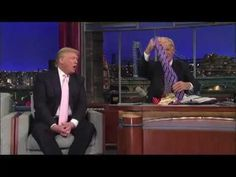 Trump on Letterman talking about China.  Also trying to push his clothing line - Letterman points out that Trump's ties are made in China!  Awkward! lolol
