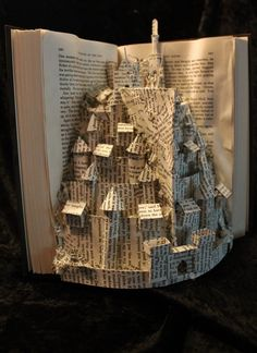 Minas Tirith Book Sculpture 2 by wetcanvas on deviantART