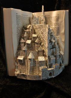 Minas Tirith Book Sculpture 2 by wetcanvas on deviantART