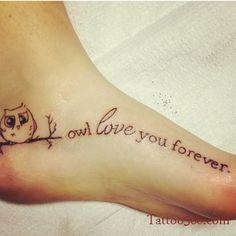 Owl love you tattoo