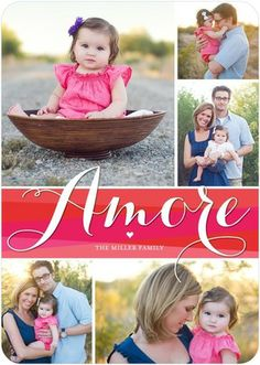 Artistic Amore - Valentine's Day Photo Cards - Hello Little One in a hot Fuchsia Pink, #ValentinesDay