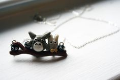 My Neighbor Totoro Necklace Totoro and Friends by AlexsMisfitToys Anime Crafts, My Neighbor Totoro, Studio Ghibli, Cufflinks, Chain, Trending Outfits, Unique Jewelry, Handmade Gifts, Cute