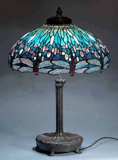 Tiffany Lamps, Tiffany floor Lamp, desk lamps, table lamps, Tiffany style lamps by Dr.Grotepass-Studios.