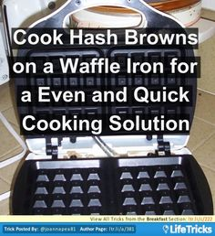 Cook Hash Browns on a Waffle Iron for an Even and Quick Cooking Solution - And much crisper outside