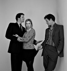 Bridget Jones's Diary (2001) - starring Colin Firth (Mark Mr Darcy), Renee Zellweger (Bridget) & Hugh Grant (Daniel Cleaver) - story based on Jane Austen's Pride & Prejudice