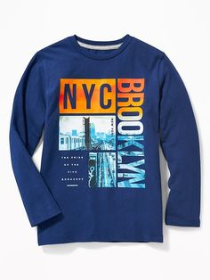 Old Navy Graphic Crew-Neck Tee for Boys New T Shirt Design, Shirt Designs, Kids Clothes Boys, Kids Boys, Baby Boutique Clothing, Cool Graphic Tees, Shop Old Navy, Cool T Shirts, Printed Shirts