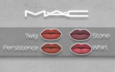 """Twig, Stone, Persistence & Whirl Lipsticks by MAC * As some of you may know, I have already made and released the MAC lipsticks """"Whirl"""" & """"Stone"""". However, I felt like I should remake them because although the post became really popular, when I first..."""