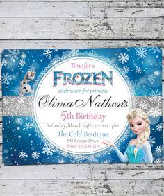 Disney Frozen Birthday Party Invitation Kids Birthday Princess