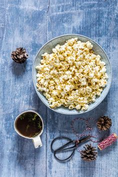 Need a quick snack – then make this 3 ingredient healthy herb popcorn. A light crispy popcorn recipe that is vegan, gluten-free and moreish too. recipesfromapantry.com #popcorn #herbpopcorn