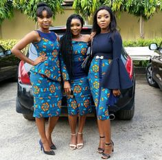 Wow friends that slay together in African prints stay together.