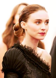 Elegant lines ( esp like the hair and red lip)