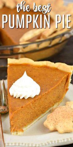 Classic Pumpkin Pie Recipe, Easy Pumpkin Pie, Pumpkin Pie Recipes, Pumpkin Dessert, Pumpkin Pie Custard Recipe, Best Pumpkin Pie Filling Recipe, Pumpkin Pie Ingredients, Perfect Pumpkin Pie, Halloween Recipe