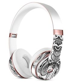 Vector Sacred Elephant Full-Body Skin Kit for the Beats by Dre Solo 3 Wireless Headphones Cute Headphones, Girl With Headphones, Sports Headphones, Bluetooth Headphones, Mobile Accessories, Iphone Accessories, Accessoires Iphone, Beats By Dre, Apple Products