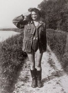 Picture Of Collaborator Girl In World War II
