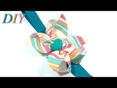 Como Hacer Lazos DIY #189 Lazo de Cinta Gros Tutorial - YouTube
