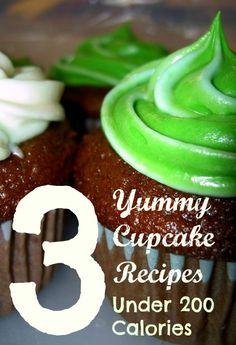 3 Yummy Cupcake Recipes Under 200 Calories on twokidsandacoupon.com