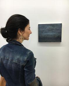 Sábado de arte com minha expert @acralston  pintura de Lucas Arruda na galeria Mendes Wood - São Paulo - estudo de cores e paisagens #fhitsart