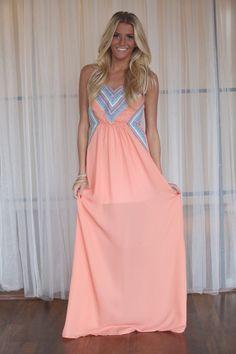 Modern Day Cinderella Dress Peach - Modern Vintage Boutique