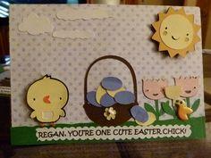 Easter Card using Cricut Create A Critter cartridge