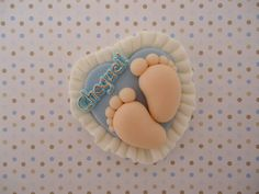 Lembrancinha Pezinho De Biscuit Baby Ornaments Clay Footprints Polymer Dolls