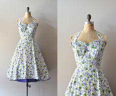 Carolyn Schnurer dress floral 1950s dress vintage by DearGolden