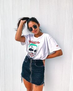 36 Ideas for style girl fashion outfits jeans Tumblr Outfits, Jean Outfits, Skirt Outfits, Trendy Outfits, Cool Outfits, Converse Outfits, Vetement Fashion, Girl Fashion, Fashion Outfits