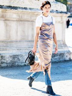 tshirt under slipdress-dress over pants-slip dress-www-