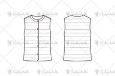 fashion flat sketch Flat Sketches, Fashion Flats, Vest, Womens Fashion, Photography, Fashion Design, Shopping, Tops, Photograph