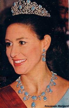 Princess Margaret wearing Persian Turquoise Parure