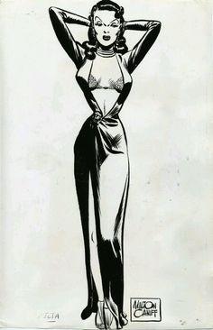 Hollywood Glamour, Comic Books Art, Book Art, Female Dragon, Dragon Lady, Milton Caniff, The Pirates, Comics Vintage, Serpieri