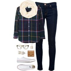 """""""plaid for fall"""" by classically-preppy on Polyvore"""