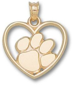 Solid 925 Sterling Silver with Gold-Toned Clemson University Medium Pendant