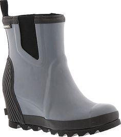 08fe052a6118 Introducing the Sorel Joan Rain Wedge Chelsea Felt Women s Grey Boot. High  quality boots by Sorel displayed in Graphite. Your feet will love these  boots ...