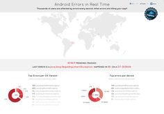 Thousands of users are affected by errors every second. What errors are killing your app?      What are the most common Android errors in different versi
