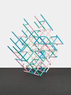 From Peres Projects, Przemek Pyszczek, Playground Structure (Grid) Lacquered steel, 310 × 177 × 275 cm Modern Sculpture, Sculpture Art, Nirmana 3d, Berlin Art, Institute Of Contemporary Art, Environmental Design, Installation Art, Cool Artwork, Geometry