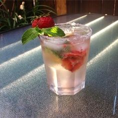"Strawberry Mojito | ""This was awesome! I made these for a party and we all loved this."""