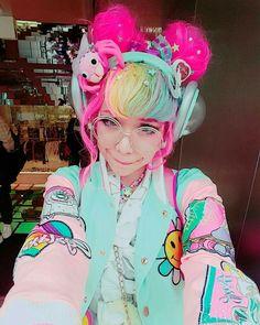 Happy Stars Shine The Brightest -{ Maybeanothername }🖤×🖤 Japanese Streets, Japanese Street Fashion, Tokyo Fashion, Harajuku Fashion, Kawaii Fashion, Lolita Fashion, Cute Fashion, Visual Kei, Mode Kawaii