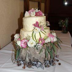 Cath & David's Wedding Cake #countryweddings #weddingcake #wedding #eyg2016