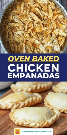 This chicken empanada recipe is the perfect way to use leftover chicken! Shredded chicken and caramelized onions are simmered in spices for a flavorful empanada filling, then folded in a buttery shortcrust and baked until golden. Chicken Empanada Recipe, Empanadas Recipe Dough, Baked Empanadas, Chicken Empanadas, Pie Dough Recipe, Empanada Dough, Leftover Shredded Chicken Recipe, Shredded Chicken Recipes, Oven Baked Chicken