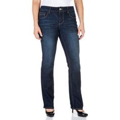 Faded Glory Women's Straight Leg Jeans Available in Regular, Petite, and Tall Lengths, Size: 12 Tall, Gray