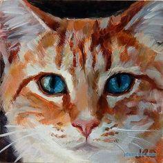 "Daily Paintworks - ""Orange Kitty Head"" - Original Fine Art for Sale - © J… Cat Sketch, Watercolor Cat, Cat Drawing, Art Plastique, Animal Paintings, Pet Portraits, Cat Art, Pet Birds, Cats And Kittens"