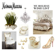 """""""The Holiday Wish List With Neiman Marcus: Contest Entry"""" by the-empress-of-the-south ❤ liked on Polyvore featuring interior, interiors, interior design, home, home decor, interior decorating, Massoud, Neiman Marcus, Hooker Furniture and Sydney Evan"""